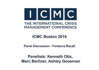 Panel Discussion – Fonterra Recall